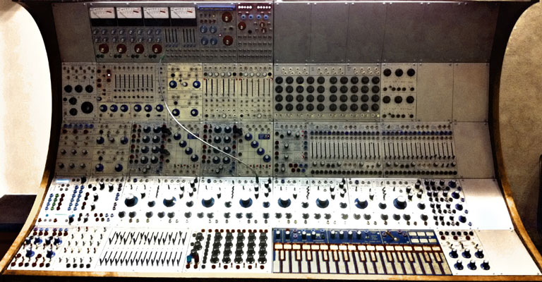 Buchla synthesizer at EMS studio in Stockholm